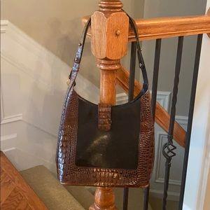 Brahmin Croco Embossed Handbag